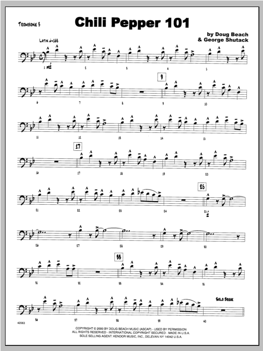 Chili Pepper 101 - Trombone 3 Sheet Music
