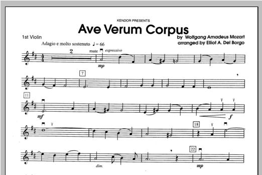 Ave Verum Corpus - Violin 1 Digitale Noten