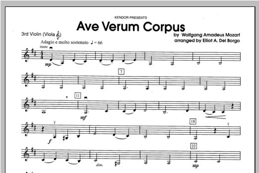 Ave Verum Corpus - Violin 3 Sheet Music