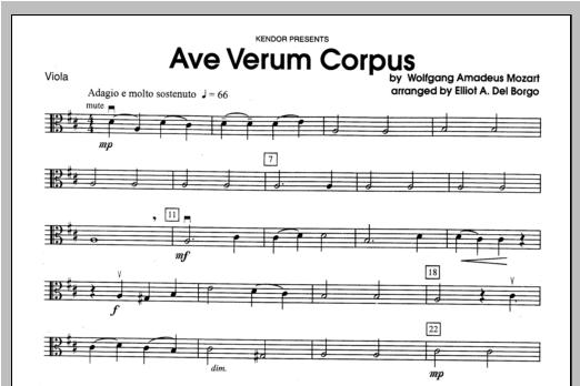Ave Verum Corpus - Viola Sheet Music