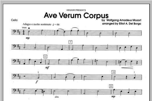 Ave Verum Corpus - Cello Sheet Music