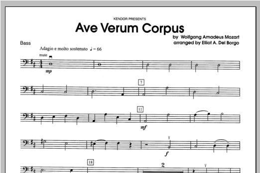 Ave Verum Corpus - Bass Sheet Music