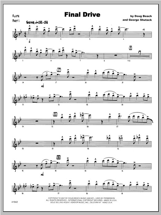 Final Drive - Flute Sheet Music