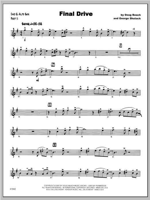 Final Drive - Alto Sax 2 Sheet Music
