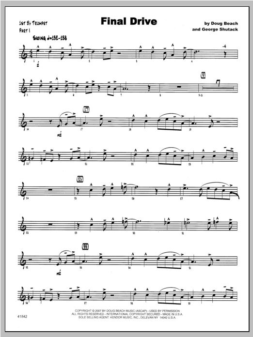 Final Drive - Trumpet 1 Sheet Music
