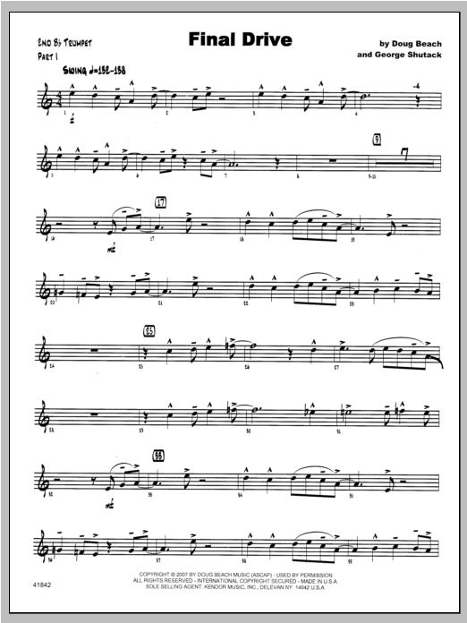 Final Drive - Trumpet 2 Sheet Music