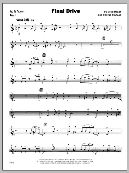 Final Drive - Trumpet 3 Sheet Music