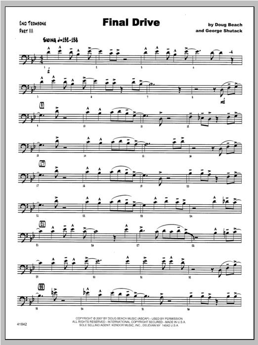 Final Drive - Trombone 2 Sheet Music