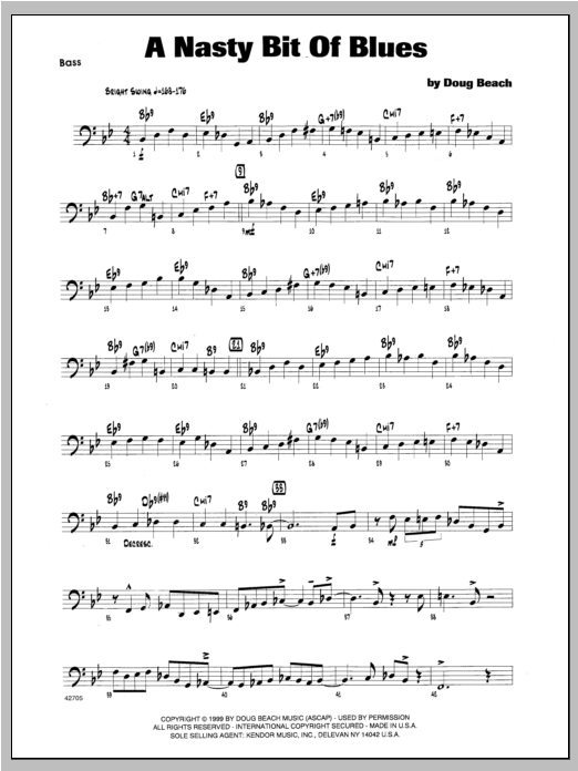 A Nasty Bit Of Blues - Bass Sheet Music