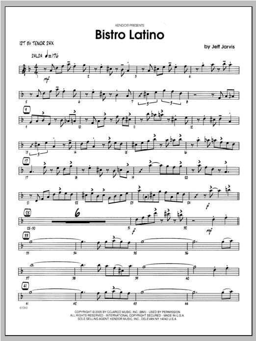 Bistro Latino - Tenor Sax 1 Sheet Music