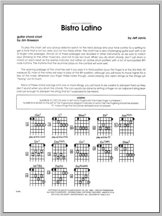 Bistro Latino - Guitar Sheet Music