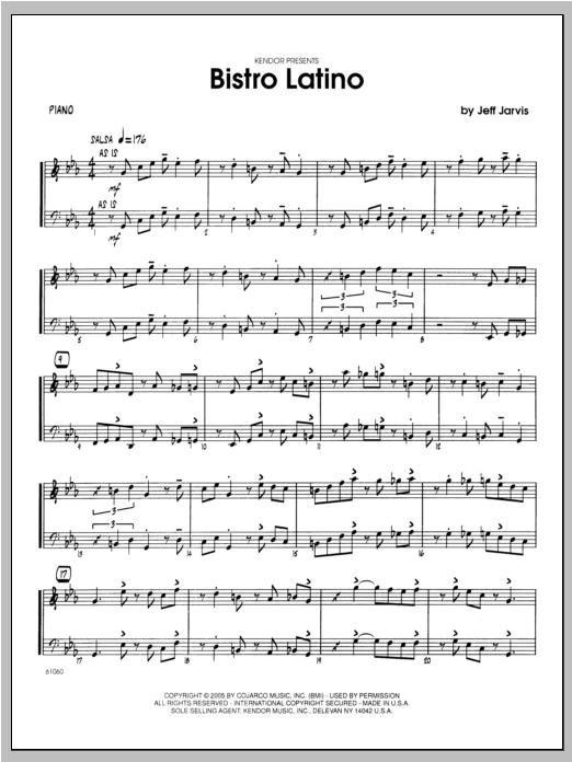 Bistro Latino - Piano Sheet Music