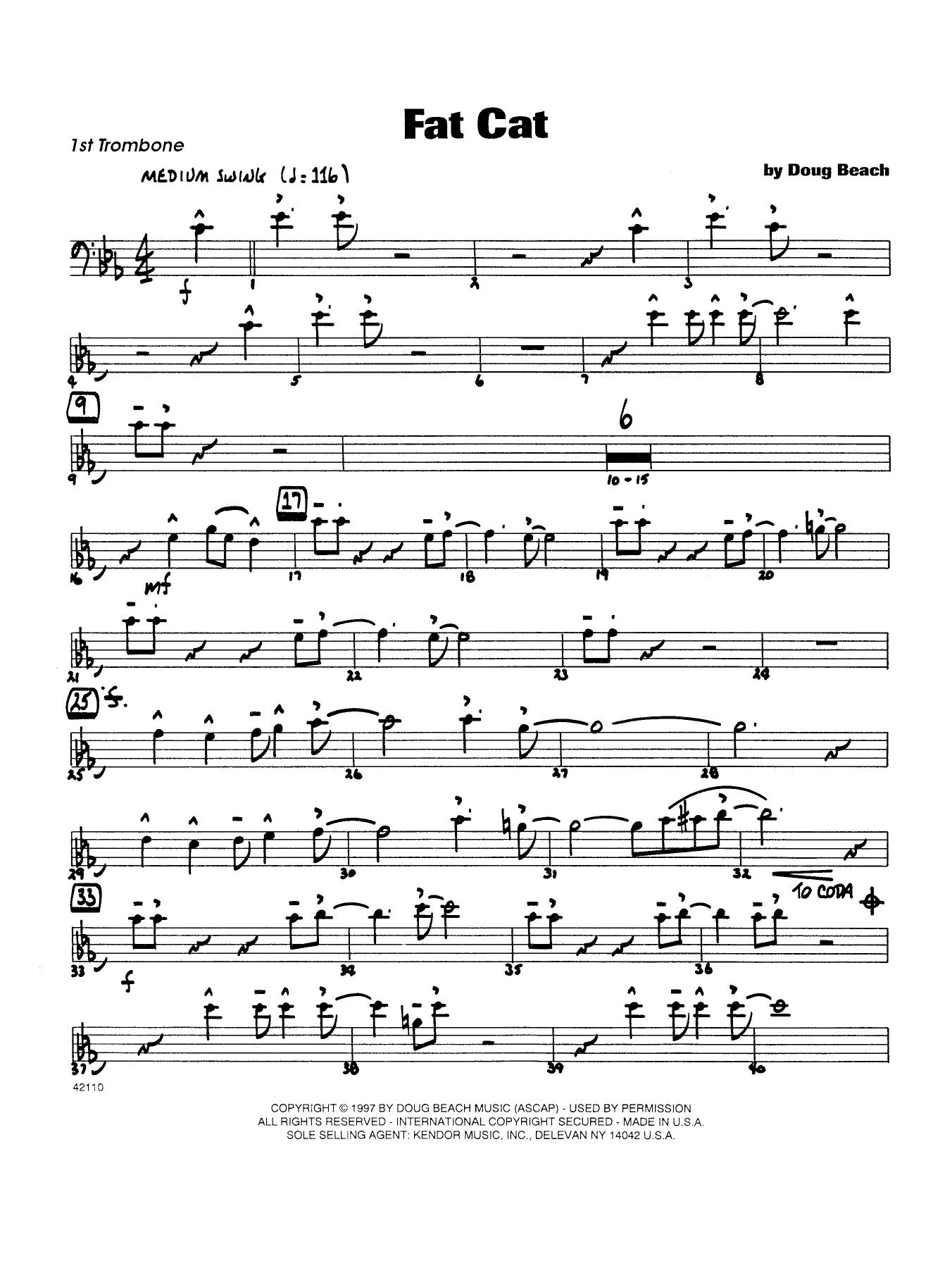 Fat Cat - Trombone 1 (Jazz Ensemble)