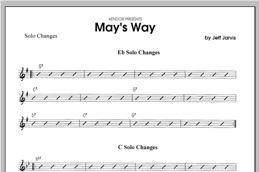 May's Way - Solo Bb Clarinet Sheet Music