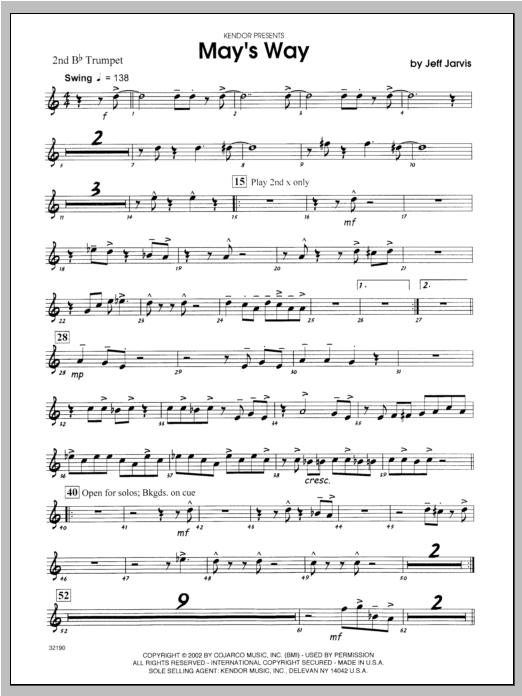 May's Way - Trumpet 2 Sheet Music