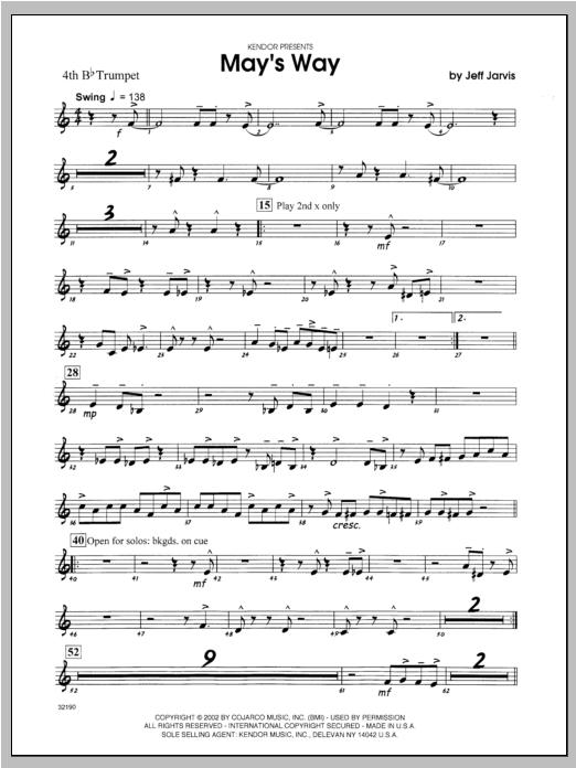 May's Way - Trumpet 4 Sheet Music
