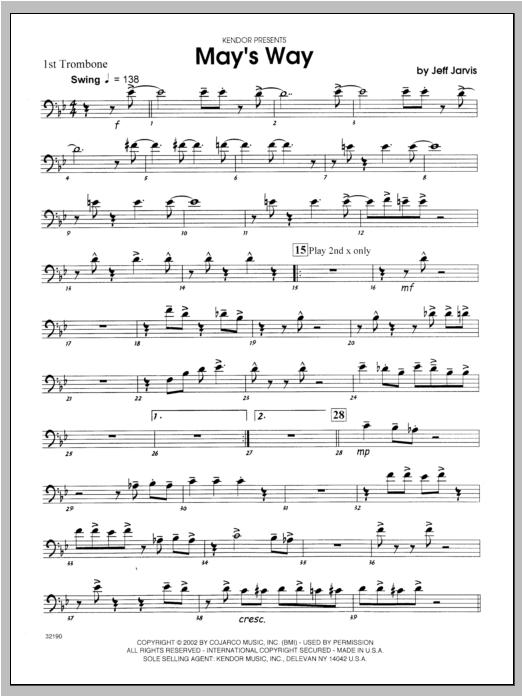 May's Way - Trombone 1 Sheet Music