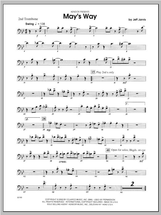 May's Way - Trombone 2 Sheet Music