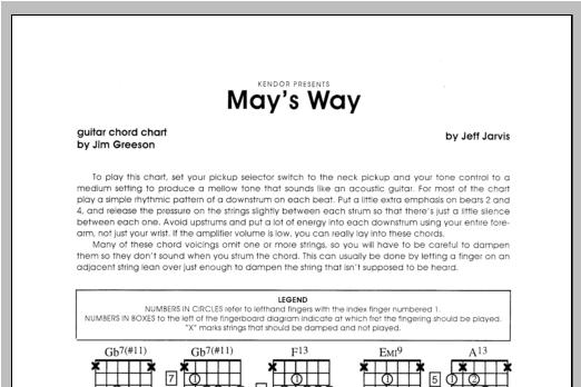 May's Way - Guitar Sheet Music
