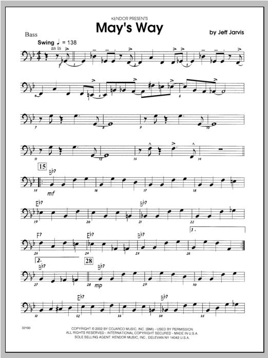 May's Way - Bass Sheet Music