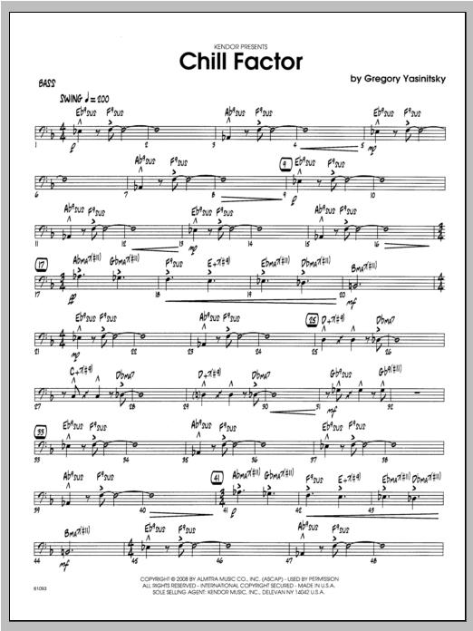 Chill Factor - Bass Sheet Music