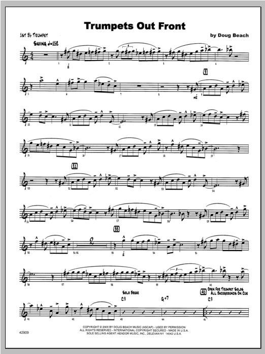Trumpets Out Front - Trumpet 1 Sheet Music