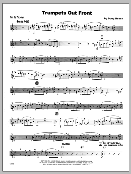 Trumpets Out Front - Trumpet 3 Sheet Music