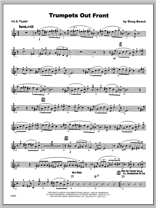 Trumpets Out Front - Trumpet 4 Sheet Music