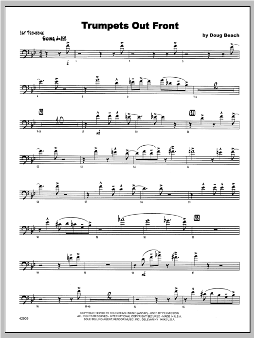 Trumpets Out Front - Trombone 1 Sheet Music