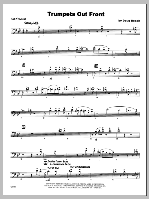 Trumpets Out Front - Trombone 2 Sheet Music