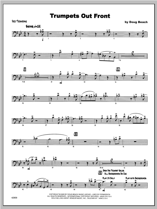 Trumpets Out Front - Trombone 3 Sheet Music