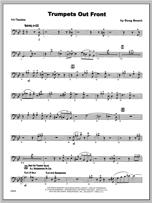 Trumpets Out Front - Trombone 4 Sheet Music