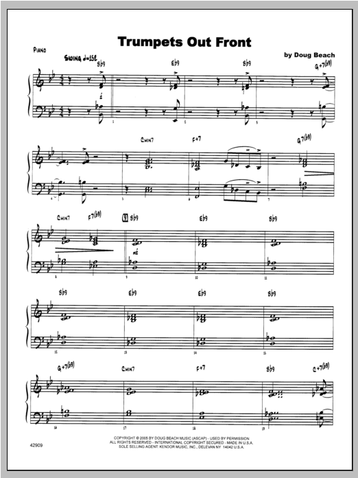 Trumpets Out Front - Piano Sheet Music