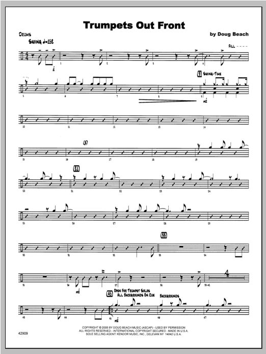 Trumpets Out Front - Drums Sheet Music