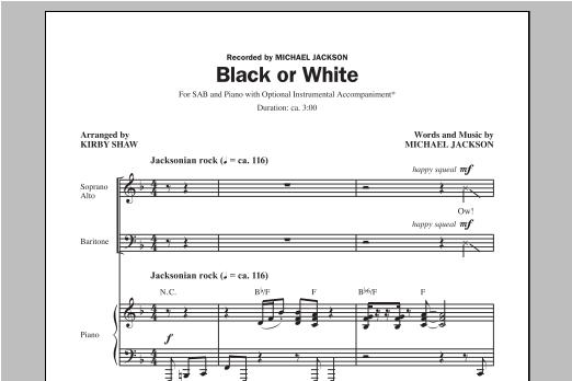Black Or White (arr. Kirby Shaw) (SAB Choir)
