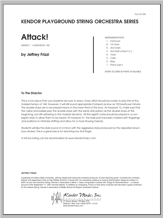 Attack! (COMPLETE) sheet music for orchestra by Frizzi. Score Image Preview.