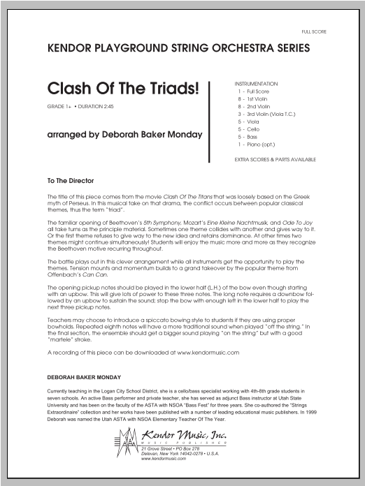 Clash Of The Triads! (COMPLETE) sheet music for orchestra by Monday. Score Image Preview.