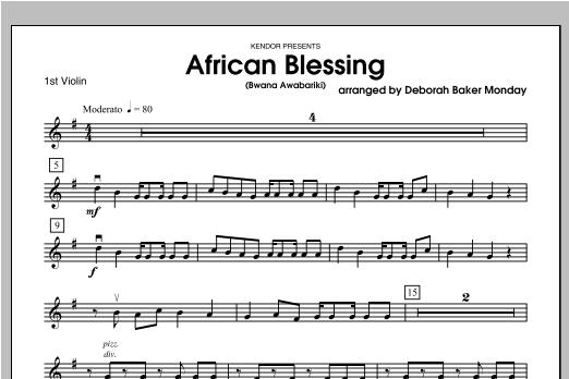 African Blessing (Bwana Awabariki) - Violin 1 Sheet Music