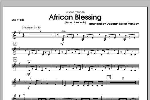 African Blessing (Bwana Awabariki) - Violin 2 Sheet Music
