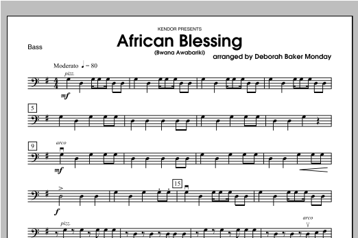 African Blessing (Bwana Awabariki) - Bass Sheet Music