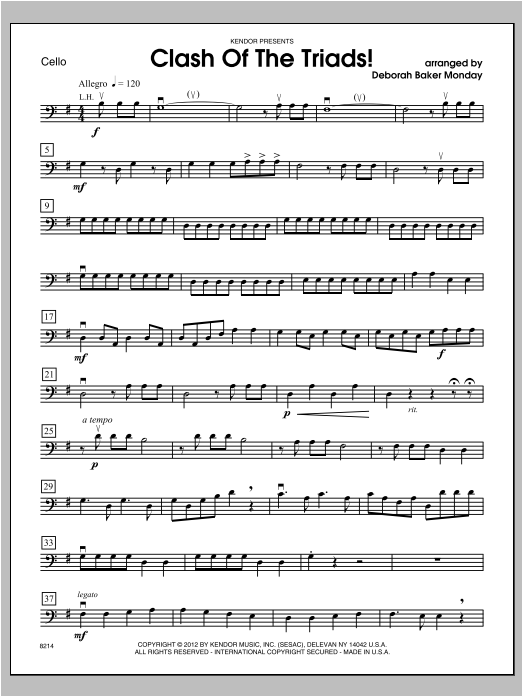 Clash Of The Triads! - Cello Sheet Music
