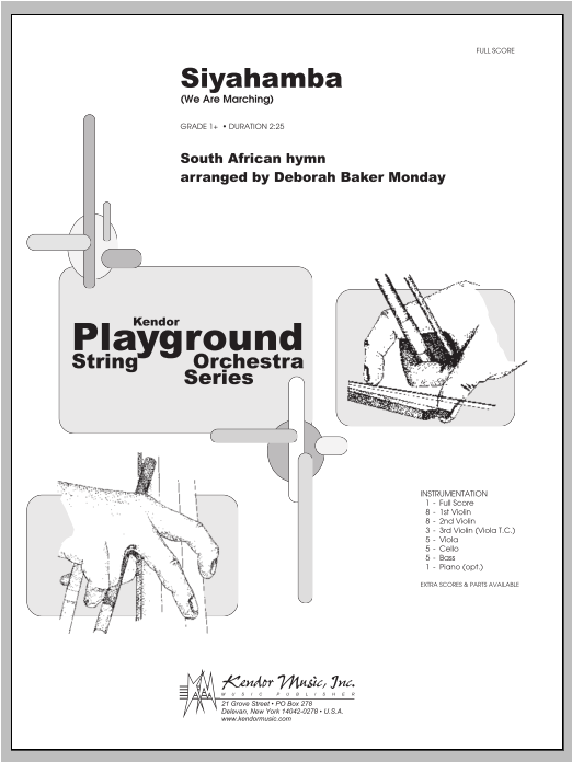Siyahamba (We Are Marching) (COMPLETE) sheet music for orchestra by Monday. Score Image Preview.
