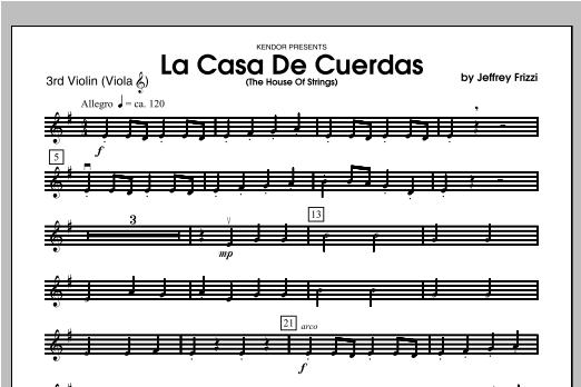 La Casa De Cuerdas (The House Of Strings) - Violin 3 Sheet Music