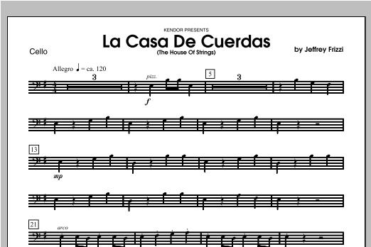 La Casa De Cuerdas (The House Of Strings) - Cello Sheet Music