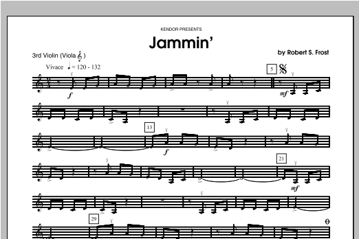 Jammin' - Violin 3 Sheet Music
