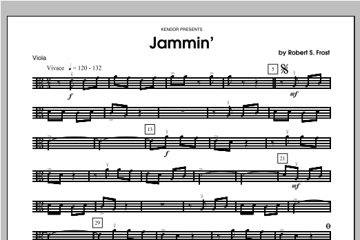 Jammin' - Viola Sheet Music