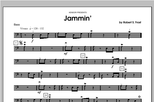 Jammin' - Bass Sheet Music