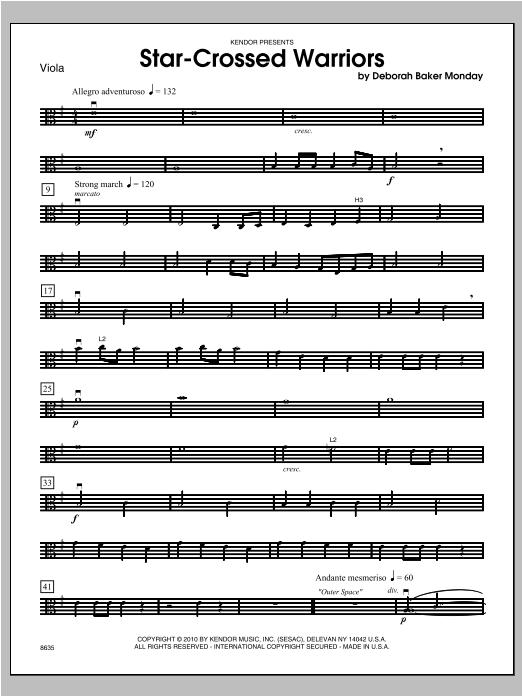 Star-Crossed Warriors - Viola Sheet Music