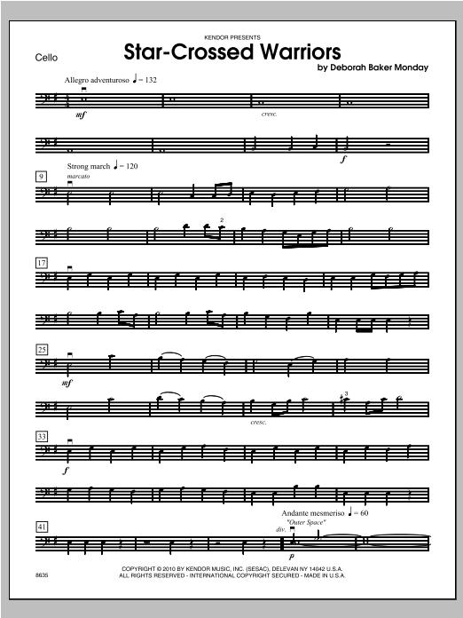Star-Crossed Warriors - Cello Sheet Music