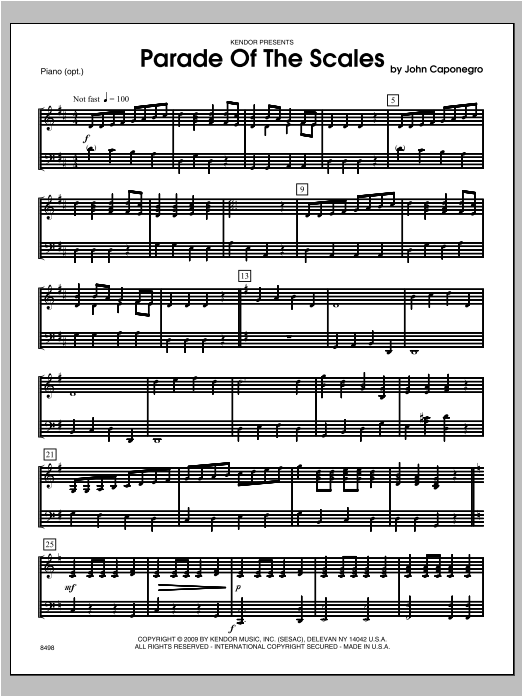 Parade Of The Scales - Piano Sheet Music